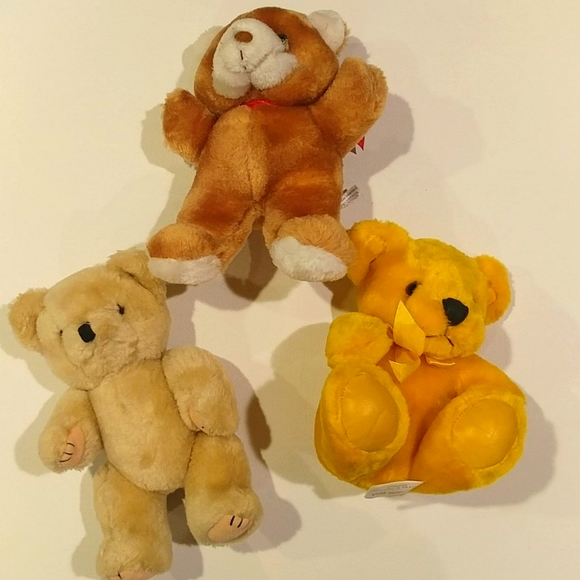 4/$15 🌻 Set of 3 Tan Teddy Bears